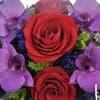 """Композиция цветов """"Циркон"""" из красных роз и орхидей (арт.TLM2) фото крупным планом"""